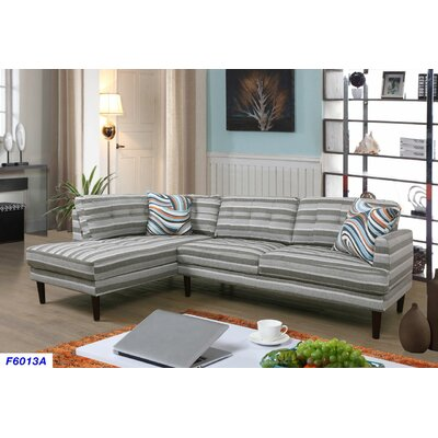 Sectional Upholstery: Stripe, Orientation: Left Hand Facing
