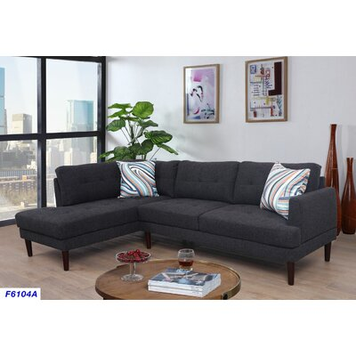 Sectional Upholstery: Charcoal Gray, Orientation: Left Hand Facing