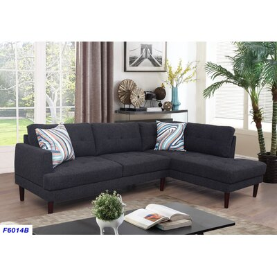 Sectional Upholstery: Charcoal Gray, Orientation: Right Hand Facing