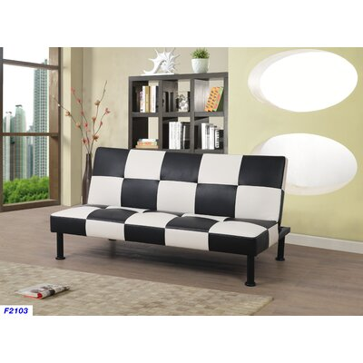Moorhead Convertible Sofa Upholstery: Black/White