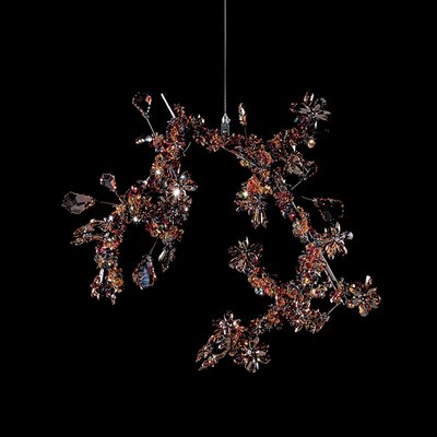 Blossom 1-Light LED Pendant Crystal: Autumn