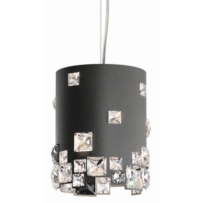 Mosaix 1-Light Drum Pendant Base Finish: Glimmer Gray