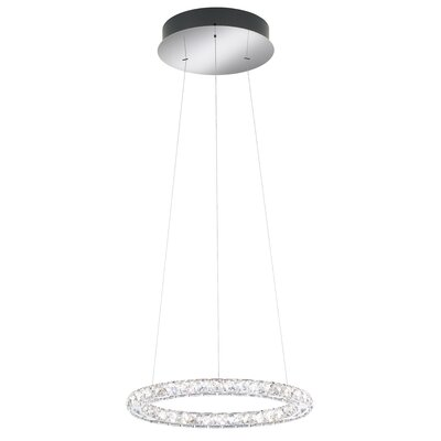 Circle 9-Light LED Crystal Pendant Color Temperature: 4000k