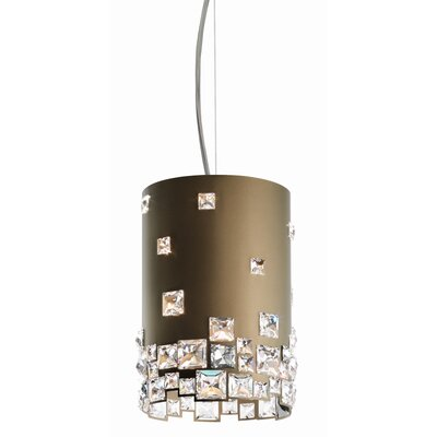 Mosaix 4-Light Drum Pendant Base Finish: Bronze