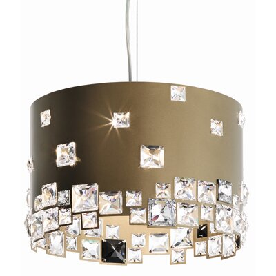 Mosaix 6-Light Drum Pendant Base Finish: Bronze