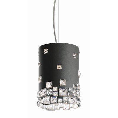 Mosaix 4-Light Drum Pendant Base Finish: Glimmer Gray
