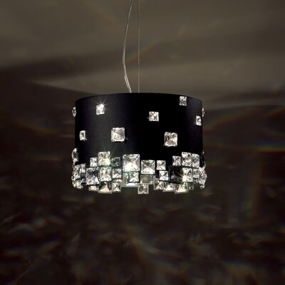 Mosaix 6-Light Drum Pendant Base Finish: Stainless Steel