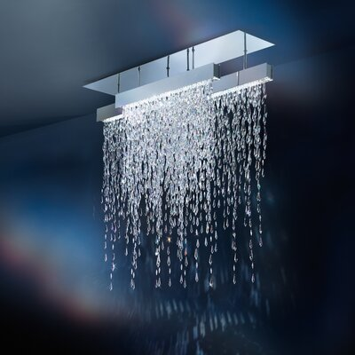15-Light Close to Ceiling Semi Flush Mount