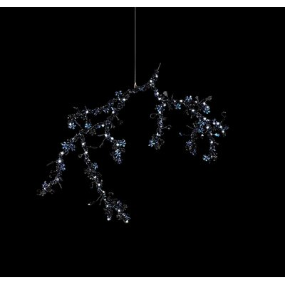 Blossom 1-Light LED Pendant Crystal: Night