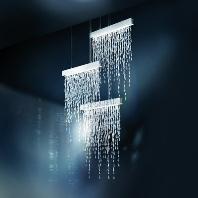 Crystalline Icicles 15-Light Cascade Pendant