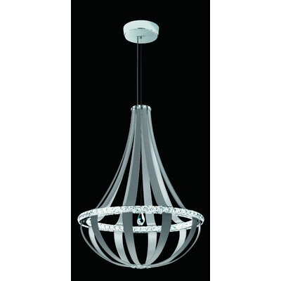 Crystal Empire 20-Light LED Foyer Pendant Base Finish: White Pass, Color Temperature: 3000K