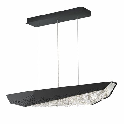 Glyph 3-Light LED Kitchen Island Pendant Base Finish: Glimmer Gray, Color Temperature: 3000K