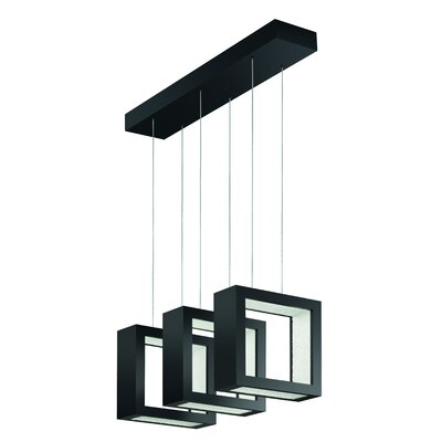 ReveaLED Open 24-Light LED Kitchen Island Pendant Base Finish: Earth Black, Color Temperature: 3000K