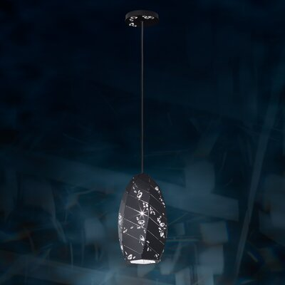 Apta 1-Light Mini Pendant Base Finish: Black