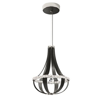 Crystal Empire 12-Light LED Foyer Pendant Base Finish: Iceberg, Color Temperature: 4000K
