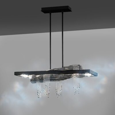 Sevetti 8-Light LED Crystal Pendant Color Temperature: 4000K