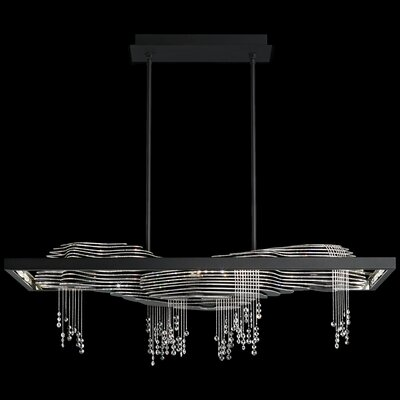 Sevetti 12-Light LED Crystal Pendant Color Temperature: 3000K