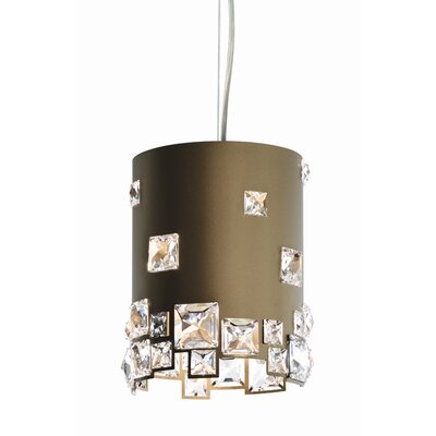 Mosaix 1-Light Drum Pendant Base Finish: Bronze