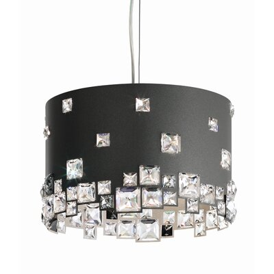 Mosaix 6-Light Drum Pendant Base Finish: Glimmer Gray
