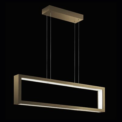 ReveaLED Open 32-Light LED Kitchen Island Pendant Base Finish: Bronze, Color Temperature: 4000K
