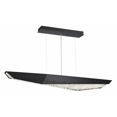 Glyph 4-Light LED Kitchen Island Pendant Base Finish: Black