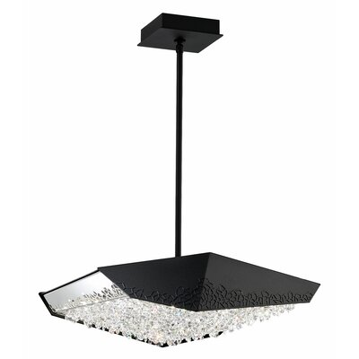 Glyph 6-Light LED Kitchen Island Pendant Base Finish: Black, Color Temperature: 4000K
