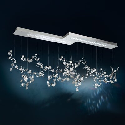 Crystalon 6-Light LED Kitchen Island Pendant Crystal: Clear, Color Temperature: 3000K