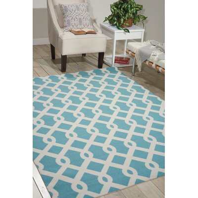 Sun N Shade Blue/Ivory Indoor/Outdoor Area Rug Rug Size: Rectangle 10 x 13