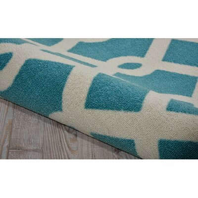 Sun N Shade Blue/Ivory Indoor/Outdoor Area Rug Rug Size: Square 79 x 79