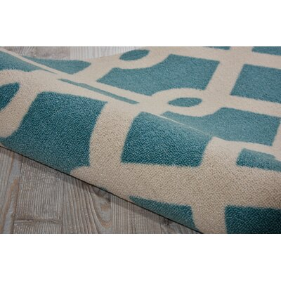 Sun N Shade Blue IndoorOutdoor Area Rug Rug Size: Runner 23 x 8