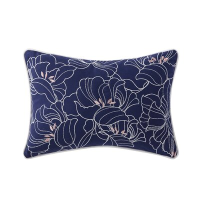 Janiyah Decorative Embroidered Floral Cotton Throw Pillow