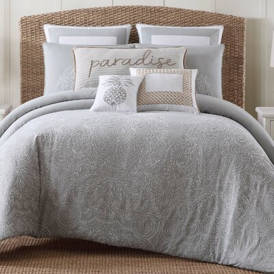Amabilia Gray/White Comforter Set Size: Twin XL