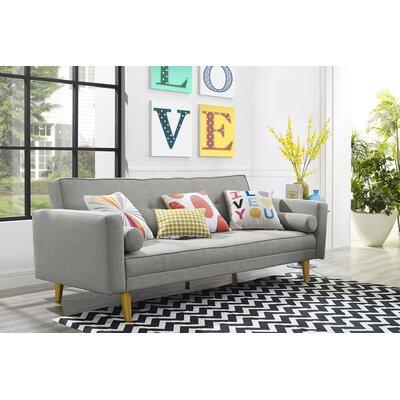 Novogratz Vintage Mix Convertible Sofa Upholstery: Gray