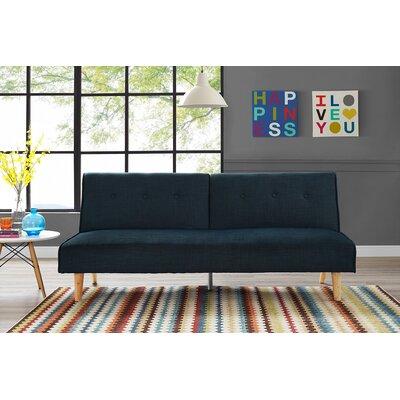 Novogratz Palm Springs Convertible Sofa Upholstery: Navy Blue