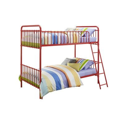 Novogratz Berkshire Twin Bunk Bed Color: Red