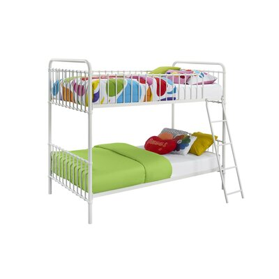 Novogratz Berkshire Twin Bunk Bed Color: White