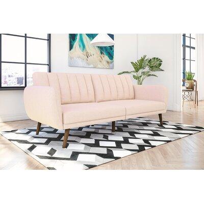 Novogratz Brittany Convertible Sofa Upholstery: Pink