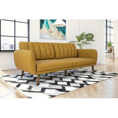 Novogratz Brittany Convertible Sofa Upholstery: Mustard