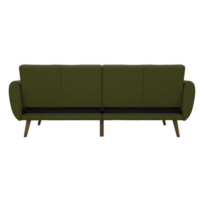 Brittany Convertible Sofa Upholstery: Green