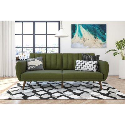 Novogratz Brittany Convertible Sofa Upholstery: Green