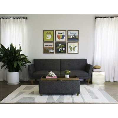 Novogratz 2180429N Regal Convertible Sofa