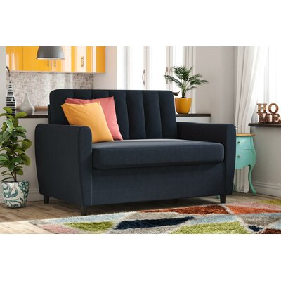 Brittany Sleeper Sofa Upholstery: Blue