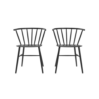 Campbell Side Chair Finish: Black