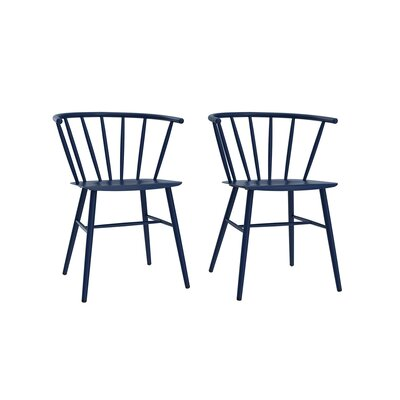 Campbell Side Chair Finish: Navy Blue