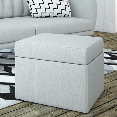 Brittany Storage Ottoman Color: Gray