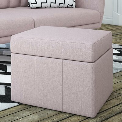 Brittany Storage Ottoman Color: Pink