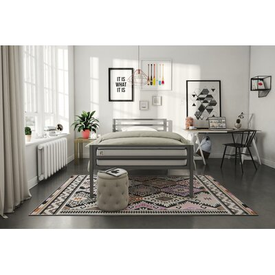 Maxwell Platform Bed Size: Twin, Bed Frame Color: Gray