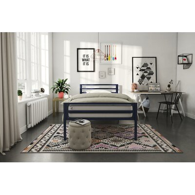 Maxwell Platform Bed Size: Full, Bed Frame Color: Navy Blue
