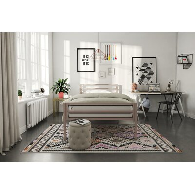 Maxwell Platform Bed Size: Twin, Bed Frame Color: Pink
