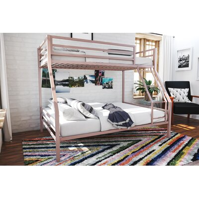 Maxwell Metal Bunk Bed Color: Pink